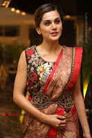 Tapsee Pannu Latest Stills in Red Silk Saree at Anando hma Pre Release Event .COM 0076.JPG