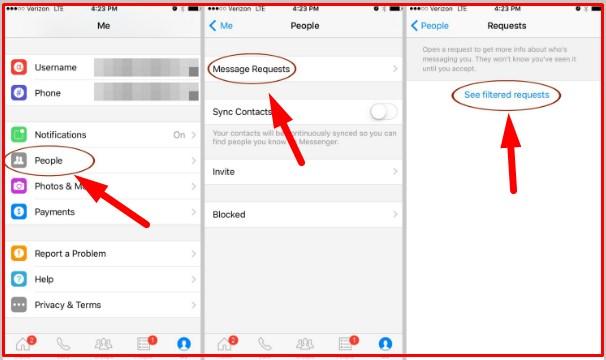 secret messages on messenger