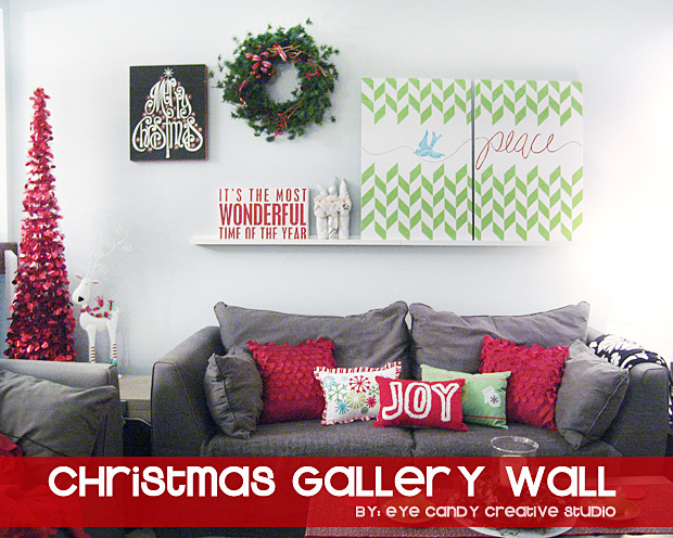decorating for christmas, peace artwork on canvas, christmas pillows