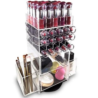 Shop Nile Corp Wholesale Acrylic Rotating Makeup Organizer Lipstick Rack Brush Holder
