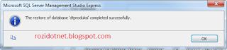 Cara Restore Database Sql Server 2005