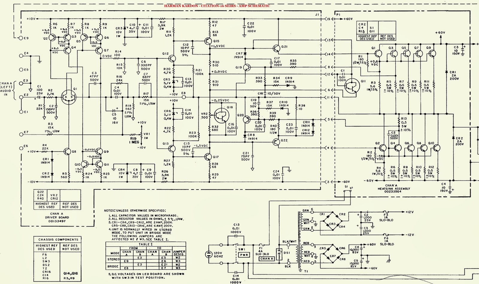 led wiring diagrams 1965 mustang diagram electro help: harman-kardon - citation-16 series stereo amp schematic [circuit diagram]