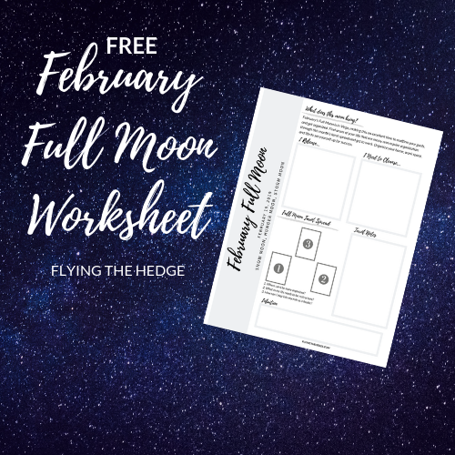 February 2019 Full Moon Worksheet