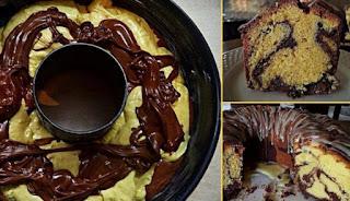 Κέικ βουτύρου δίχρωμο από τη Σοφη Τσιώπου…