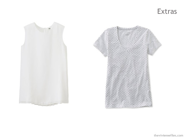 2 tops in a summer travel capsule wardrobe