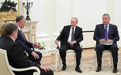 Meeting with President of Moldova Igor Dodon in the Kremlin.