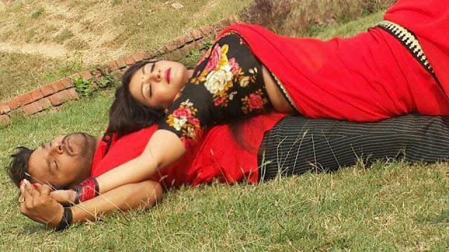 Khesari Lal Yadav, Sweety Chhabra Shooting stills of Hogi Pyar Ki Jeet