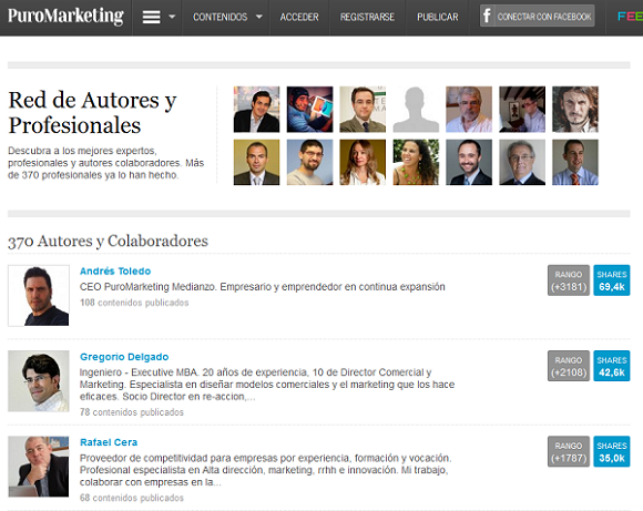 Ranking Autores PuroMarketing