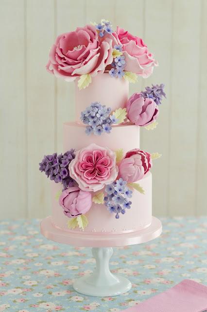 Rosas inglesas de azúcar