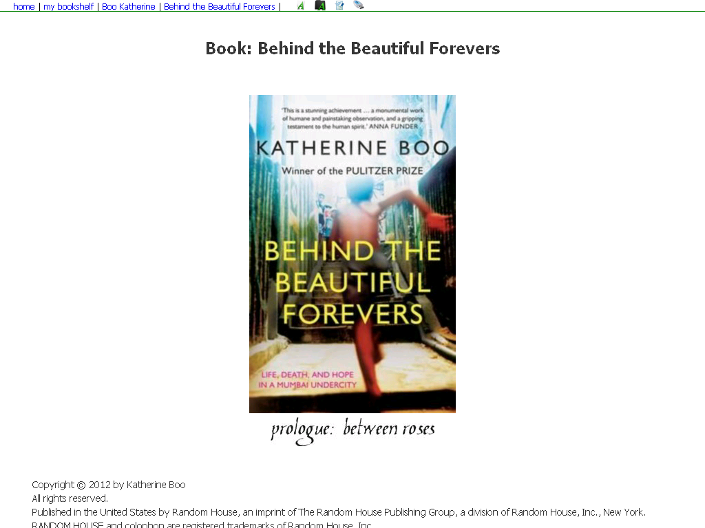 Behind The Beautiful Forevers Katherine Boo Pdf