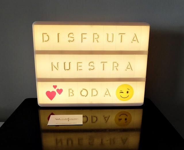 ligthbox caja de luz disfruta nuestra boda