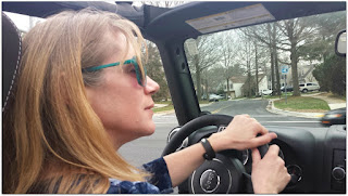 Jeep Mom Driving topless