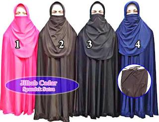 Grosir jilbab cadar purdah cantik murah