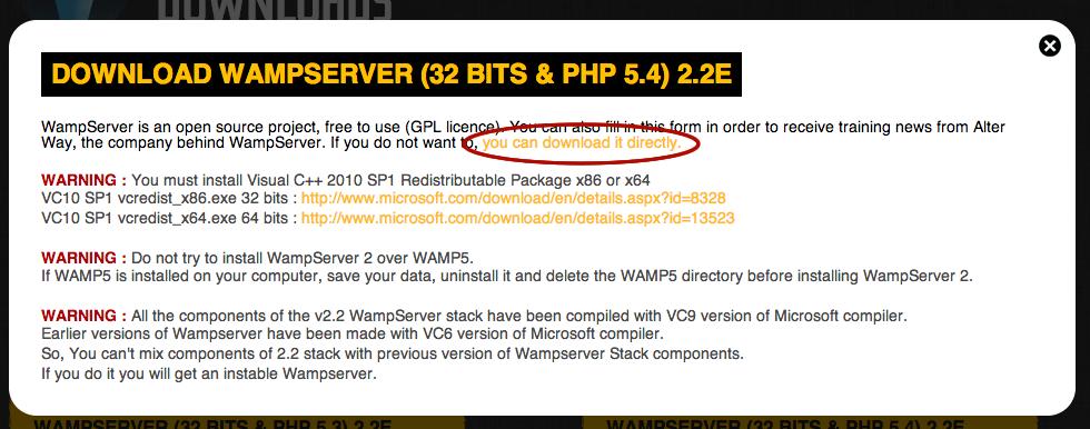 32 BITS WAMPSERVER 5.4 TÉLÉCHARGER PHP