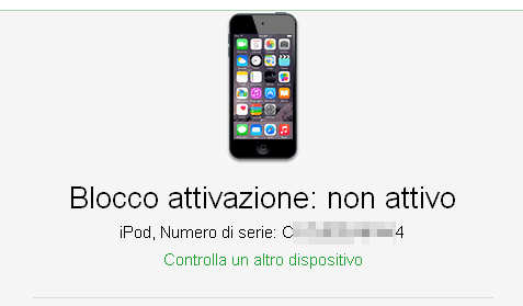 Verificare se un iPhone/iPad/iPod è bloccato, perso o rubato -