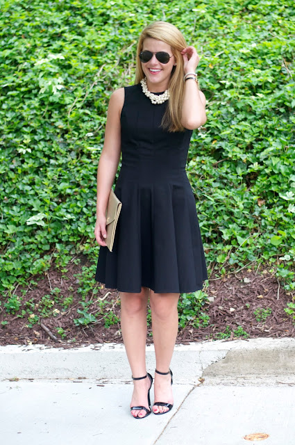 LBD Under $100 with J. Crew hammock pearl necklace