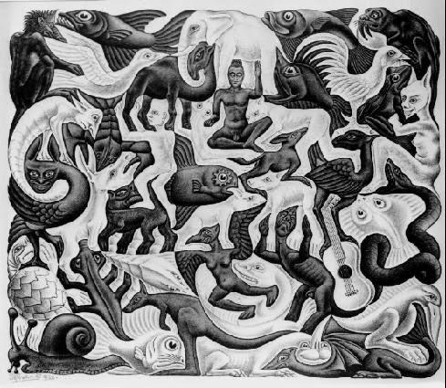 Plano de Enchimento ll - Escher, M. C. e suas geniais litogravuras