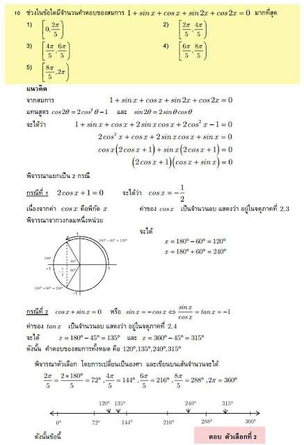 เรียนคณิตศาสตร์ ติวสอบเข้า ม.สงขลานครินทร์ หาดใหญ่
