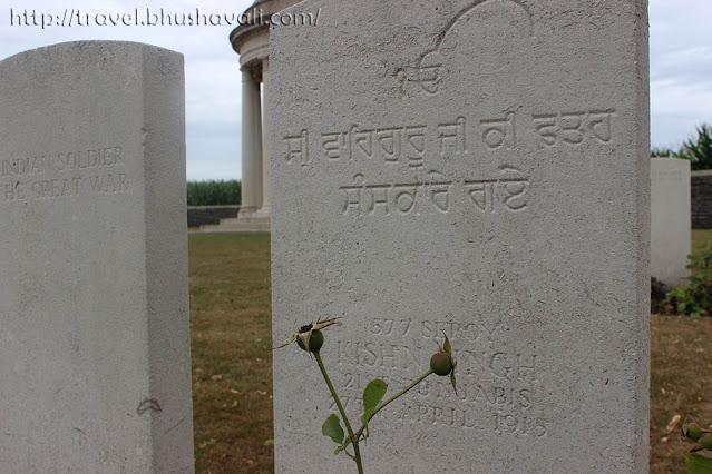 Kishn Singh - Bedford Cemetery, Ypres, Belgium
