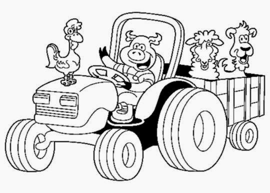 Free Coloring Pictures: Tractor Coloring Pictures