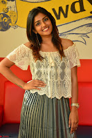 Eesha in a cute deep neck top and Skirt at at Big FM 073.JPG