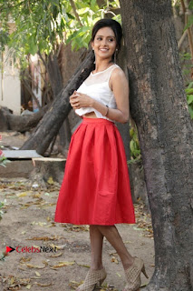 Actress Mahima Nambiar Latest Stills in White Top and Red Skirt at Kuttram 23 Movie Press Meet  0039.jpg