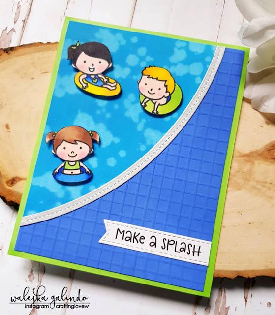 Sunny Studio Stamps: Beach Babies Customer Card Share by Waleska Galindo
