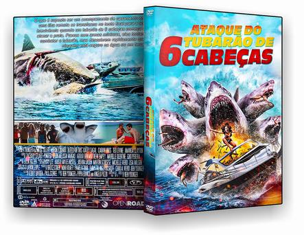 CAPA DVD – ATAQUE.DO TUBARÃO DE 6 – CABEÇAS – AUTORADO