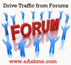 Drive traffic from Forums : eAskme