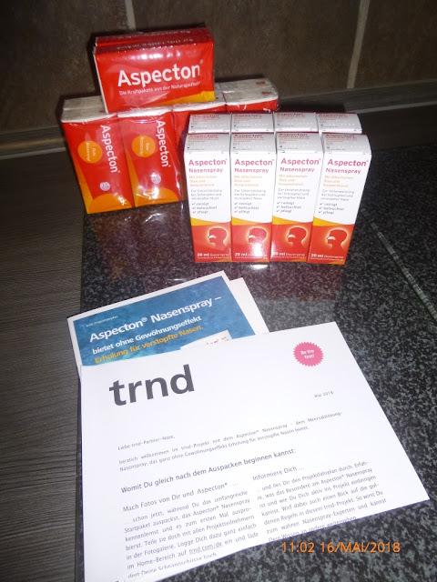 mein trnd Testpaket Aspecton Nasenspray vom Hersteller KrewelMeuselbach