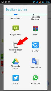 copy paste link dari google drive