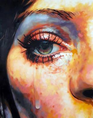 Pintura hiperrealista de un ojo