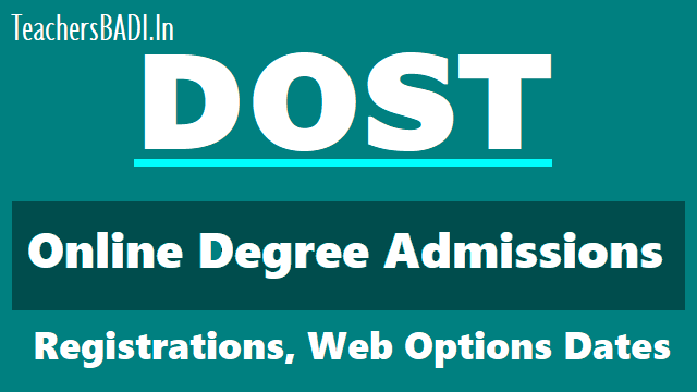 ts dost online degree admissions 1st,2nd,final last phase web options schedule 2018,seats allotment,dost.cgg.gov.in web options schedule,online application form registration