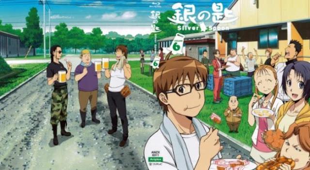 Gin No Saji - Anime Mirip Hataraku Saibou Terbaik