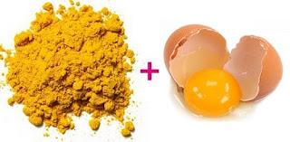 cách làm trắng da đơn giản từ bột nghệ và trứng gà