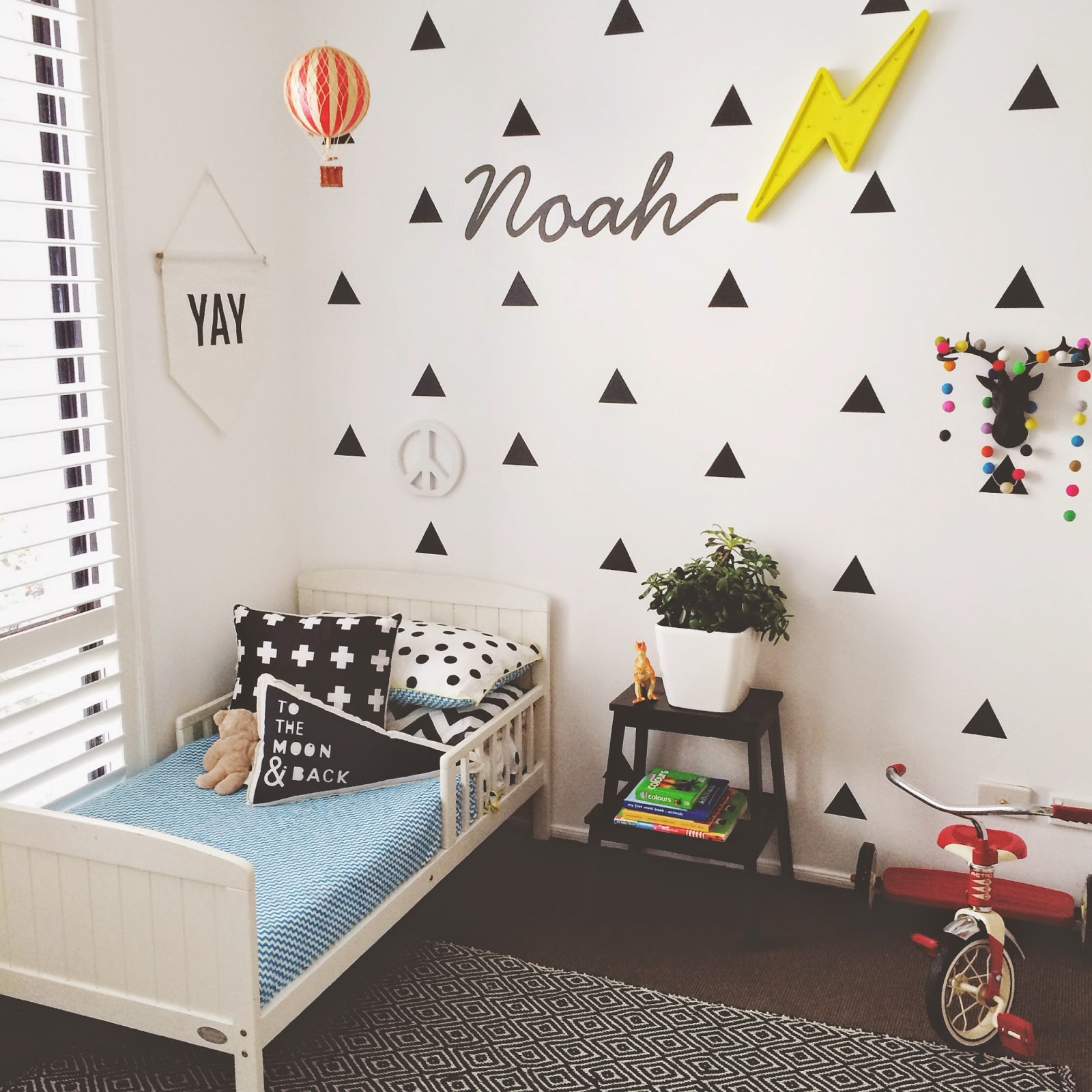 מוצר triangles wall sticker kids honey and fizz bedrooms updating noah s nursery to 72841