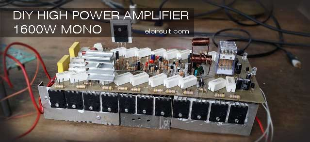 DIY Amazing High Power Amplifier circuit 1600W