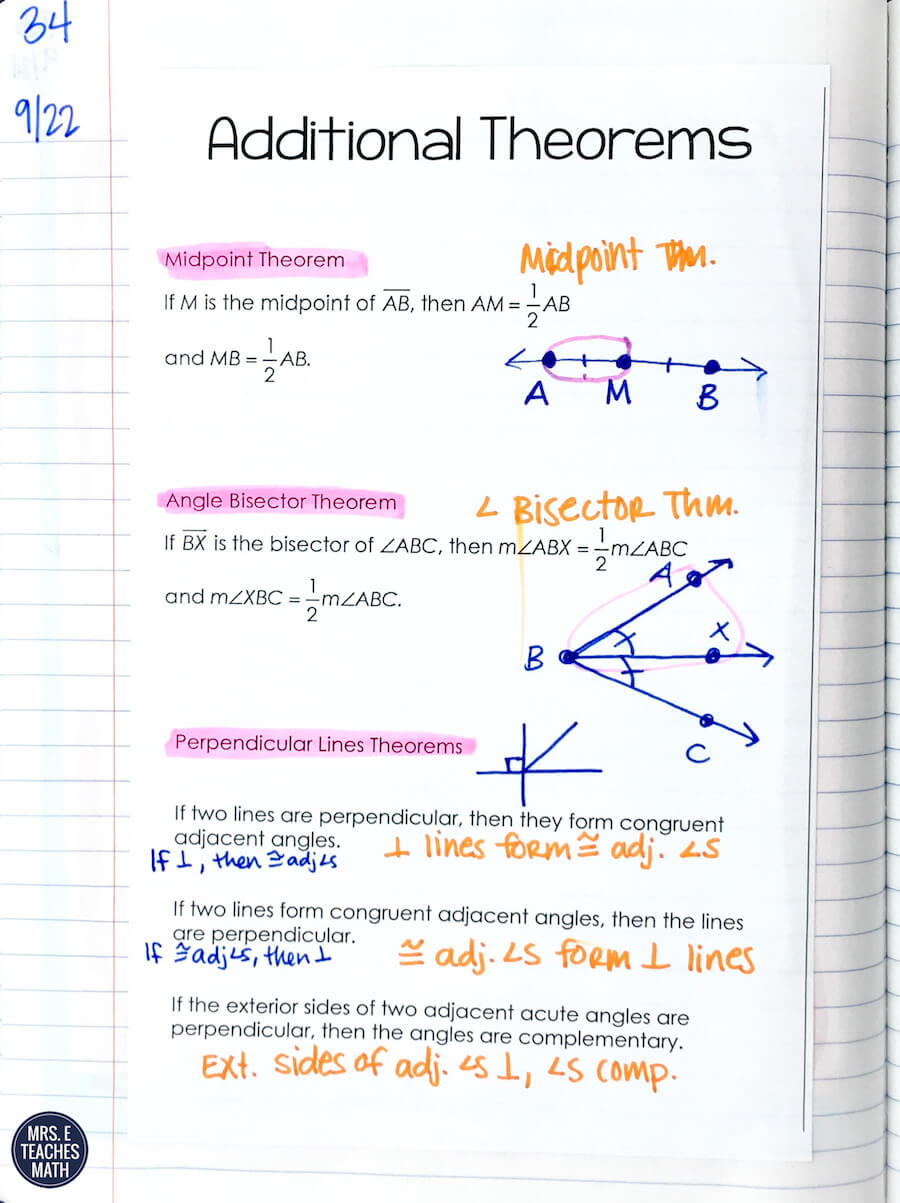 Mrs E Teaches Math – Two Column Proofs Worksheets