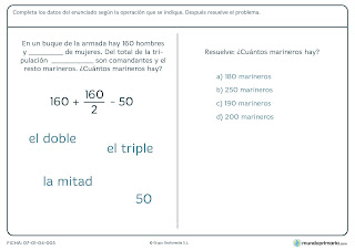 fichas de matemática para quinto de educación primaria 7