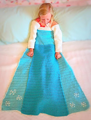 crochet afghan Elsa from frozen