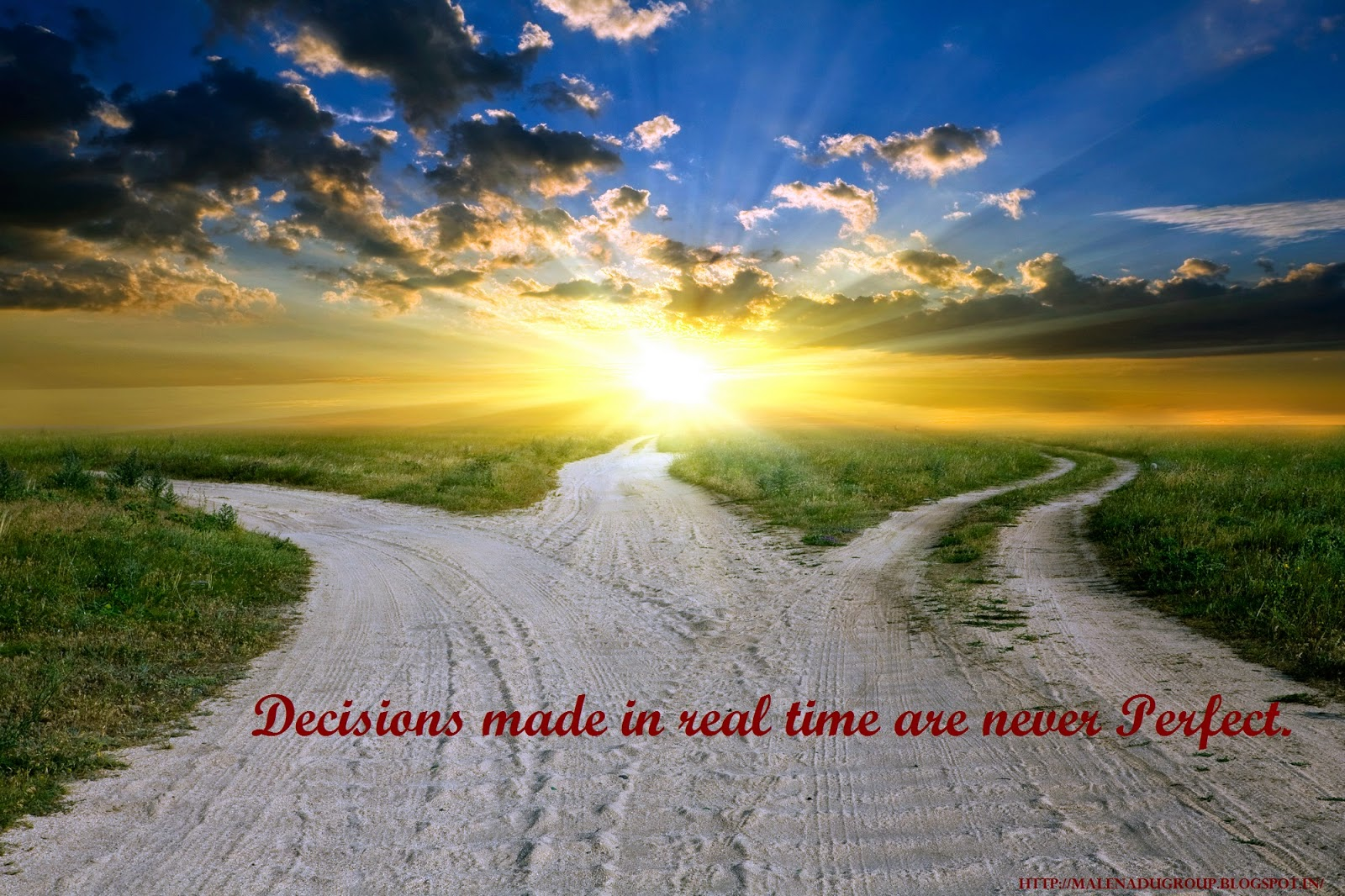 Decision making quotes on nature wallpaper