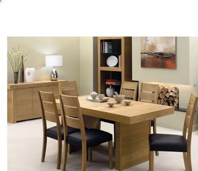 Các mẫu bàn ăn gỗ công nghiệp đẹp cho gia đình 1