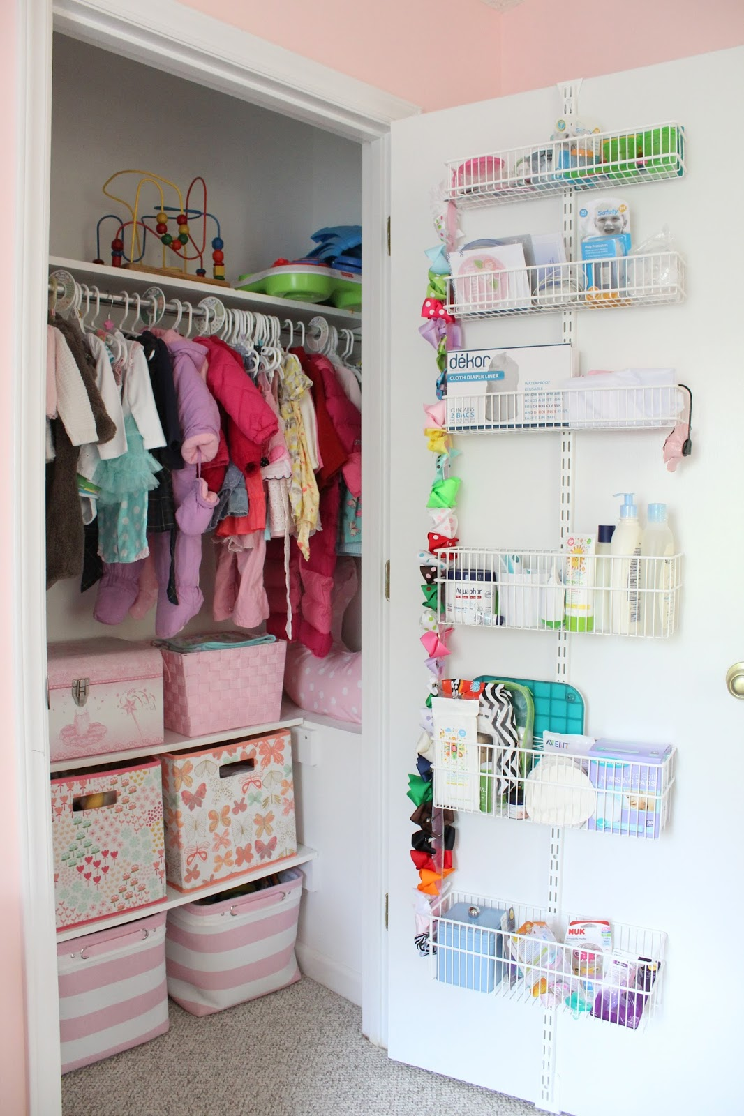 It 39 s a horvath 39 s life baby girl nursery reveal for Baby organizer ideas