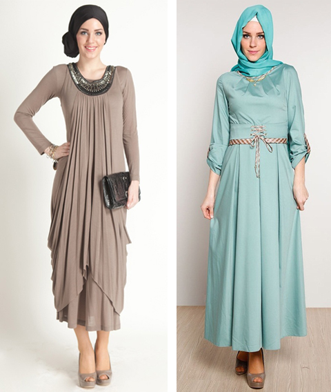 model baju long dress muslim