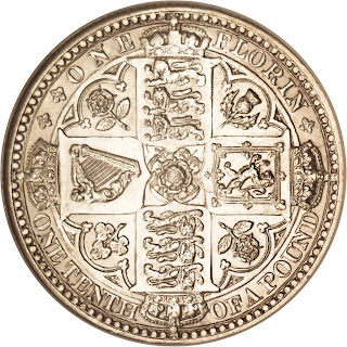 British Silver Coins Godless Florin