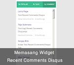 Cara Membuat Recent Comments Disqus