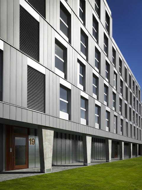 Residencial Valdedebas, Fachada Ventilada fibra-cemento, Fachada panel de composite de aluminio. Fachada tecnológica, Arquitectura Singular, El hábito de hacer las cosas bien