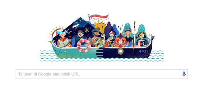 logo google hari kemerdekaan republik indonesia 2017