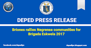 Briones rallies Negrense communities for Brigada Eskwela 2017