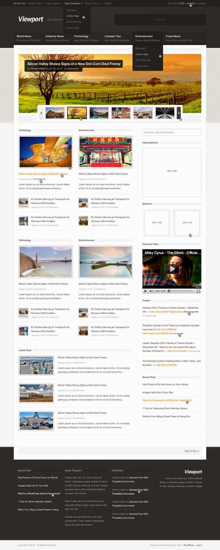 ViewPort – Magazine Site Template